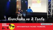 Nunchaku vs 2 Tonfa